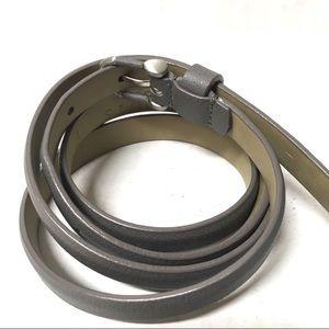 Talbots Accessories - 3/$50 Talbots gray grainy leather thin belt L XL